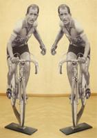 Quadro di Andrea Tirinnanzi - Gino Bartali (Giro di Toscana del 1954) digiscultura bifacciale tavola
