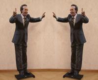 Quadro di Andrea Tirinnanzi - Roberto Benigni digiscultura bifacciale carta su tavola