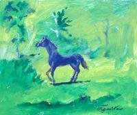 Quadro di Luigi Pignataro - Cavallo olio cartone