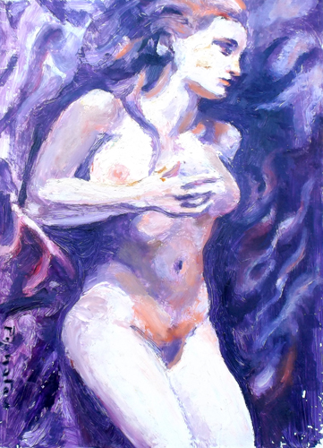 Art work by Luigi Pignataro Nudo - oil hardboard