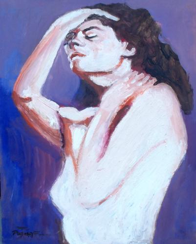 Quadro di Luigi Pignataro Figura di donna - olio tavola