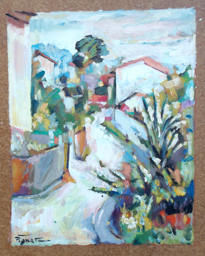 Quadro di Luigi Pignataro Paesaggio - olio faesite