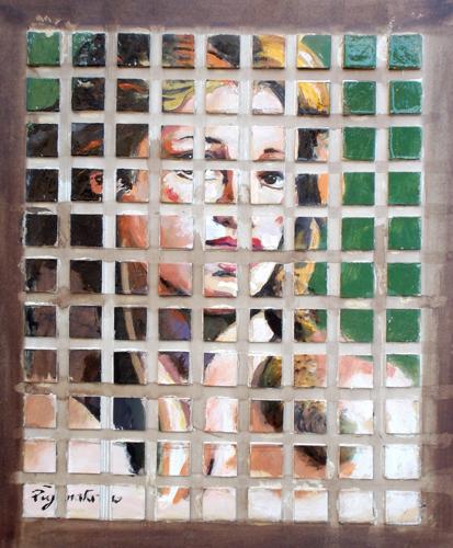 Quadro di Luigi Pignataro Composizione - olio cartone