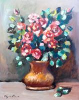 Quadro di Luigi Pignataro - Rose Rosse olio faesite