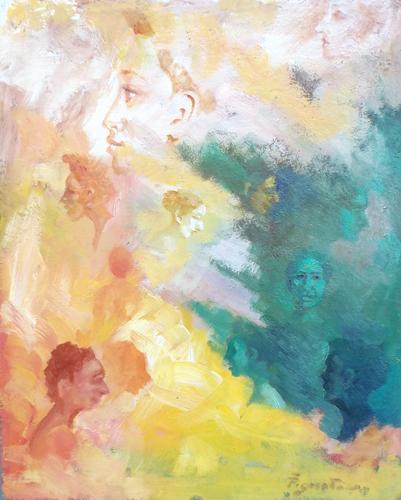 Quadro di Luigi Pignataro Fantasia - olio tavola