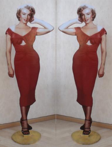Quadro di Andrea Tirinnanzi Marilyn Monroe - digiscultura bifacciale carta su tavola