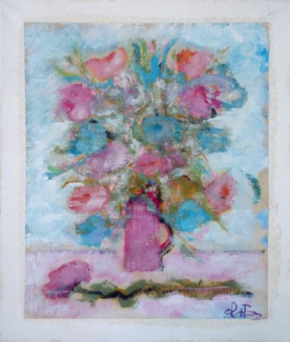 Art work by Gianfranco Bosi Vaso di fiori - mixed canvas