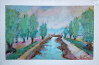 Quadro di Gianfranco Bosi - Paesaggio mista tela
