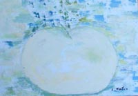 Quadro di Liù Venturi - la grande mela olio tela