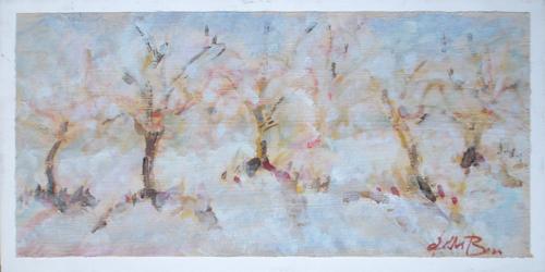 Quadro di Gianfranco Bosi Alberi in fiore - Pittori contemporanei galleria Firenze Art