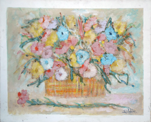 Quadro di Gianfranco Bosi Vaso di fiori - Pittori contemporanei galleria Firenze Art