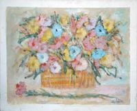 Quadro di Gianfranco Bosi - Vaso di fiori mista tela
