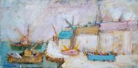 Quadro di Gianfranco Bosi  Marina con case
