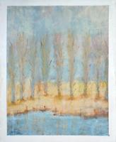 Quadro di Gianfranco Bosi  Paesaggio con alberi