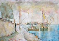 Quadro di Gianfranco Bosi  Marina con barche