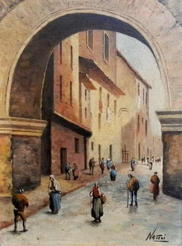 Quadro di  Natoli La porta antica - Pittori contemporanei galleria Firenze Art