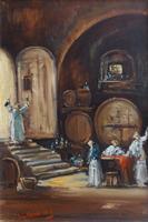 Work of Norberto Martini - Cantinetta oil canvas