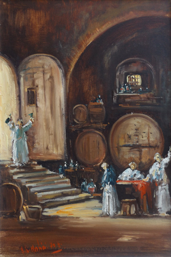 Quadro di Norberto Martini Cantinetta - Pittori contemporanei galleria Firenze Art