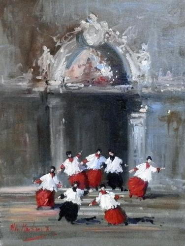Art work by Norberto Martini Chierichetti in libertà - oil canvas