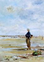 Work of Norberto Martini  Fugura sul riva del mare