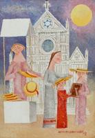 Work of Adorno Bonciani  Venditori di cappelli a S.Croce