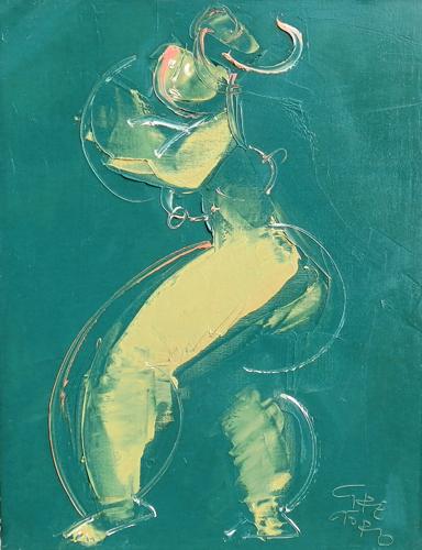 Art work by  GreGorio Figura astratta - oil canvas