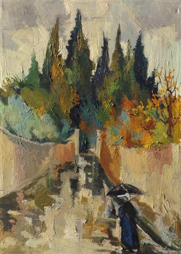 Quadro di Rodolfo Marma Via Bolognese - olio tela