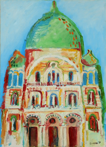 Art work by Roberto Ciabani Edificio - oil canvas