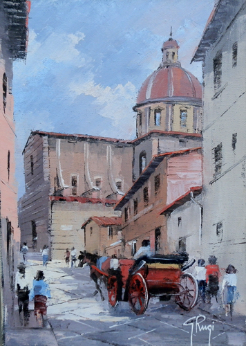 Art work by Giannetto Rugi La Chiesa di Cestello,Firenze - oil canvas