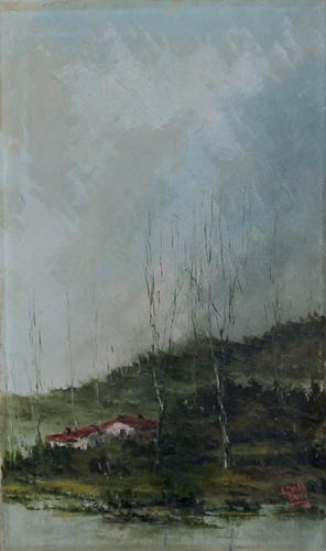 Quadro di Ennio Guadagnoli Paesaggio  - olio tela
