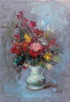 Quadro di Paolo Chellini - Vaso con fiori olio tela