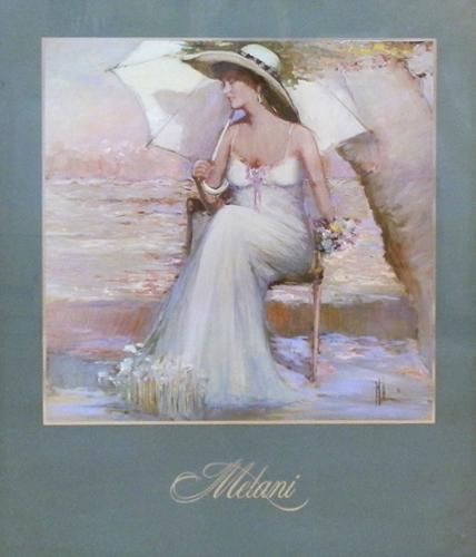 Quadro di Innocenzo Melani Ombrellino - litografia carta