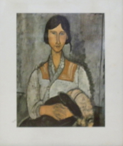 Art work by Amedeo Modigliani Figura - print paper