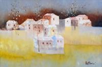 Quadro di Lido Bettarini  Paesaggio con case