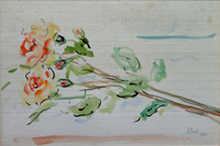Work of Sergio Scatizzi - Fiori watercolor table