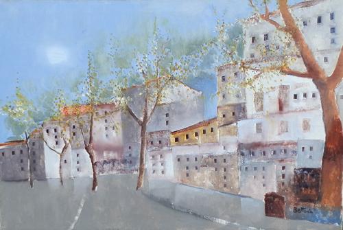 Quadro di Lido Bettarini Strada di città, olio su tela 80 x 120 | FirenzeArt Galleria d'arte