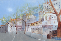 Work of Lido Bettarini - Strada di città oil canvas