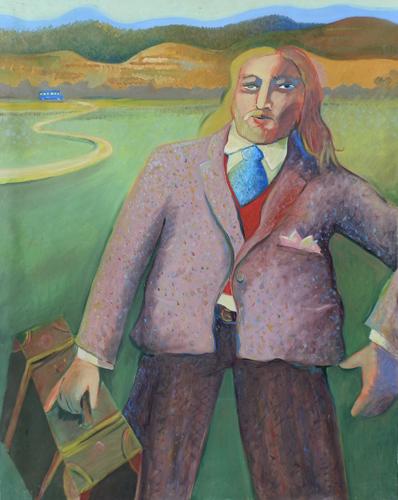 Quadro di Cesare Giardini Partenza - olio tela
