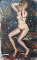 Work of Guido Borgianni - Nudo oil canvas