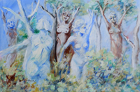 Work of Umberto Bianchini - La foresta dei sogni oil canvas