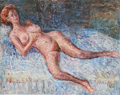 Quadro di Guido Borgianni Nudo - Pittori contemporanei galleria Firenze Art