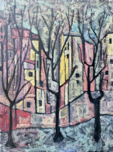 Quadro di Alvaro Baragli Paesaggio - olio tela