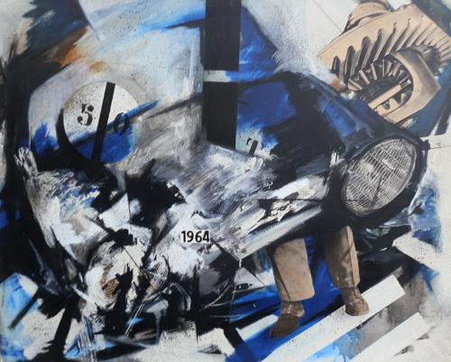 Quadro di Franco Lastraioli Composizione - olio tela