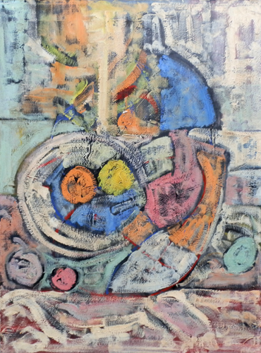 Quadro di Alvaro Baragli Composizione - olio tela