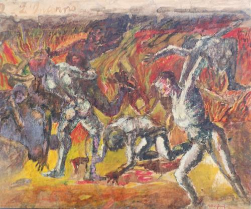 Quadro di Guido Borgianni L'inferno - olio tela