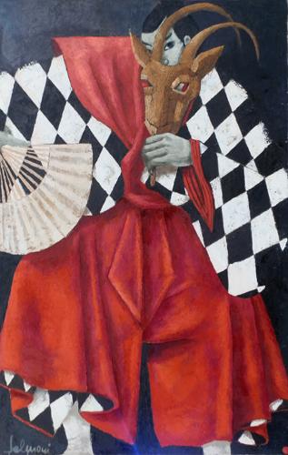 Quadro di  Salmoni Teatrale - Pittori contemporanei galleria Firenze Art