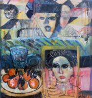 Quadro di Roberto Panichi - Composizione blu olio tela