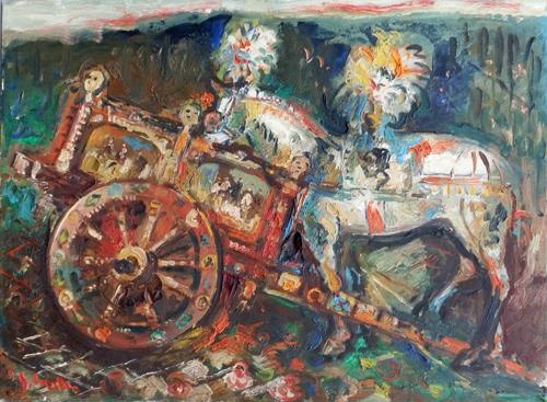 Quadro di Emanuele Cappello Cavallo bianco - olio tela