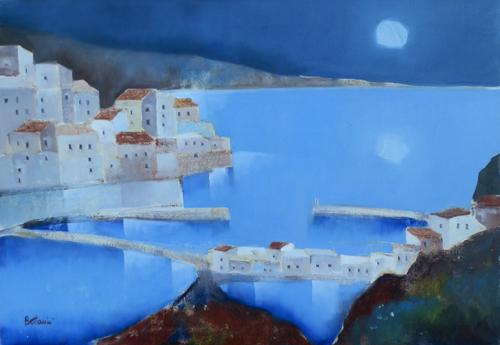 Art work by Lido Bettarini Paesaggio - oil canvas