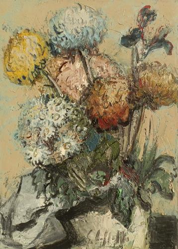 Art work by Emanuele Cappello Vaso di  fiori - oil canvas